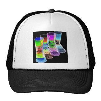 4 Coloured Cocktail Shot Glasses -Style 3 Trucker Hat