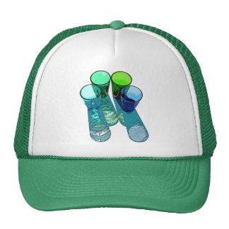 4 Coloured Cocktail Shot Glasses -Style 4 Trucker Hat