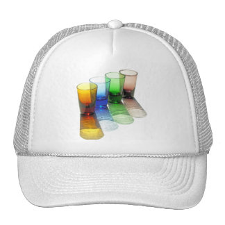 4 Coloured Cocktail Shot Glasses -Style 6 Trucker Hat