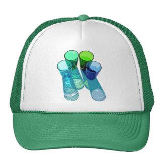 4 Coloured Cocktail Shot Glasses -Style 8 Trucker Hat
