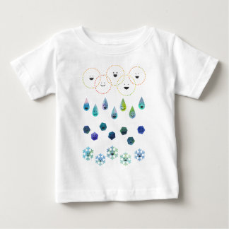 < 4 conditions of water - water color > 4 states baby T-Shirt