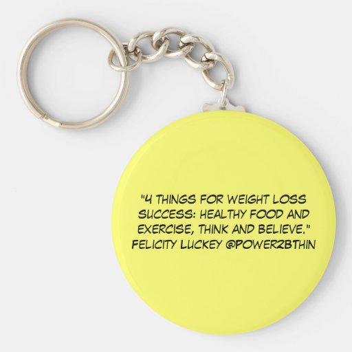 4 cosas para el éxito de la pérdida de peso llavero personalizado