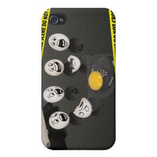 4 Crime Scene Tape Broken Egg Funny Covers For iPhone 4