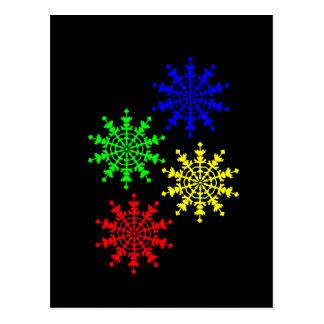 4 cristales de hielo tarjeta postal