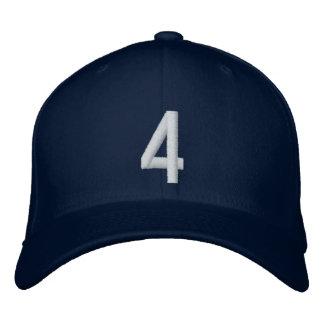 4 cuatro gorras bordadas