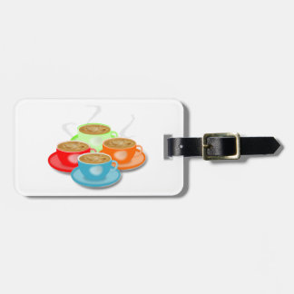 4 Cups of Coffee Luggage Tags