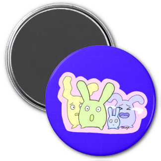 4 cute things T3T 3 Inch Round Magnet