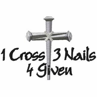 4 dado la cruz sudadera bordada con capucha