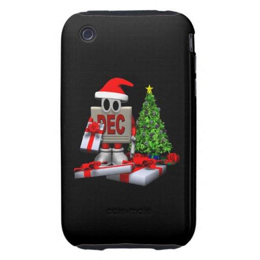 4 de diciembre tough iPhone 3 protector