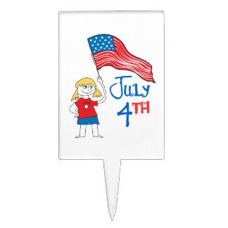 4 de julio decoración para tarta