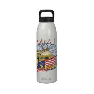 4 de julio botella de agua