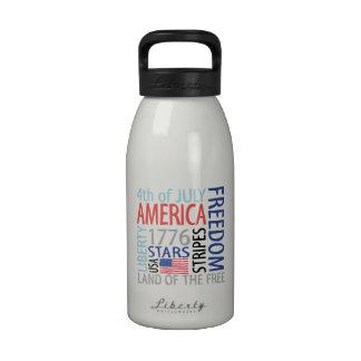 4 de julio botella de beber