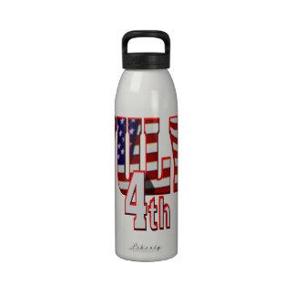4 de julio botellas de agua reutilizables