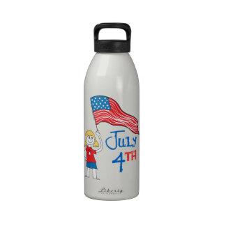 4 de julio botellas de beber