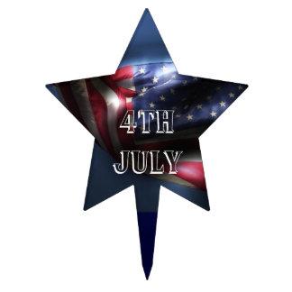 4 de julio - bandera americana decoraciones para tartas