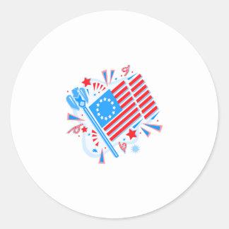 4 de julio bandera etiqueta