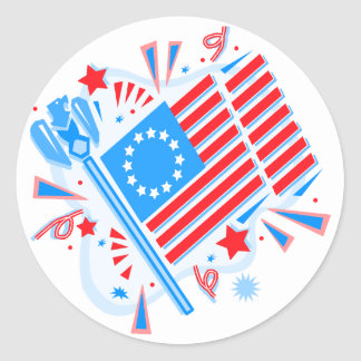 4 de julio bandera pegatinas