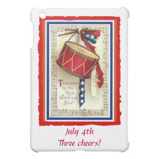 4 de julio blanco rojo del tambor del vintage y az