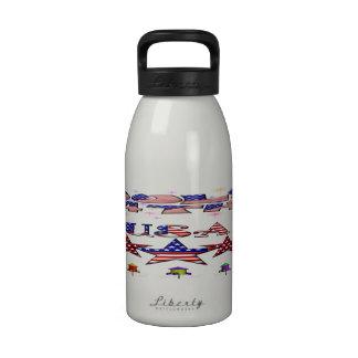 4 de julio botella de agua de los E.E.U.U. (16 onz