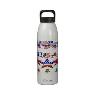 4 de julio botella de agua de los E.E.U.U. (24 onz