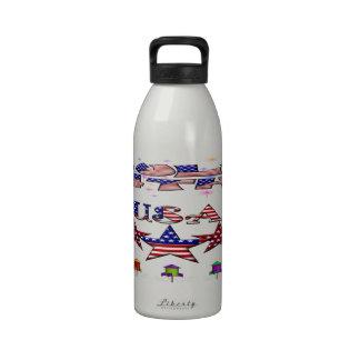 4 de julio botella de agua de los E.E.U.U. (32 onz