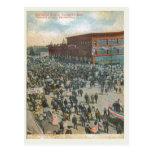 4 de julio calle Escanada Michigan 1909 de Ludding Tarjetas Postales
