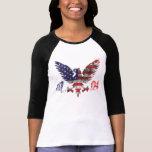 4 de julio camiseta para las mujeres playera
