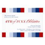 4 de julio celebración azul blanca roja de la inde invitaciones personalizada