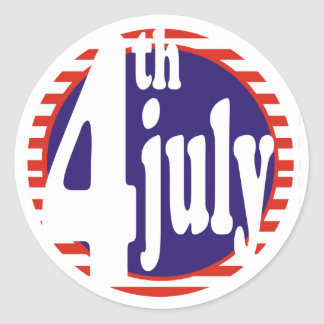 4 de julio celebración del cumpleaños etiquetas redondas