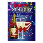 4 de julio cumpleaños - cumpleaños en el cuarto de felicitación