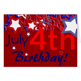 ¡4 de julio cumpleaños! tarjeta de felicitación
