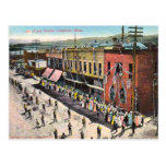 4 de julio desfile Lewistown Montana 1910 Postales