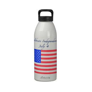4 de julio Día de la Independencia Botella De Agua