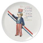 4 de julio Día de la Independencia personalizado Platos Para Fiestas