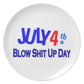 4 de julio Día de la Independencia Plato De Comida