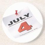 4 de julio Día de la Independencia Posavasos Manualidades