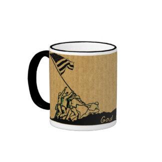 4 de julio dios de Iwo Jima bendice la taza de