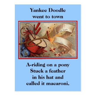 4 de julio doodle del yanqui del vintage tarjetas postales