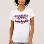 4 de julio estrellas camiseta