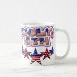 4 de julio estrellas tazas de café