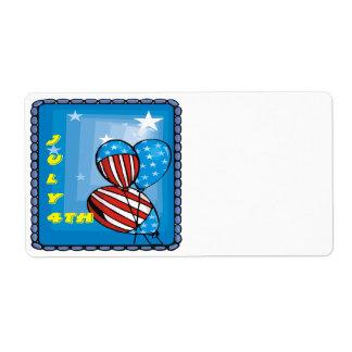 4 de julio etiquetas de envío