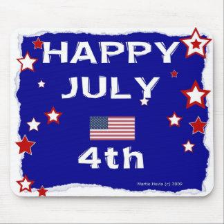 4 de julio feliz - Día de la Independencia - Tapete De Ratón