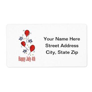 4 de julio feliz etiquetas de envío
