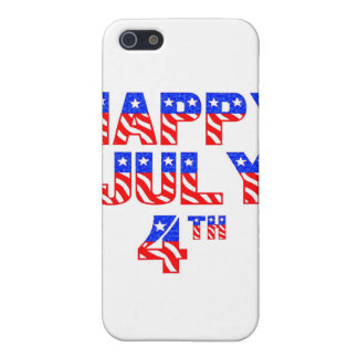 4 de julio feliz iPhone 5 protectores