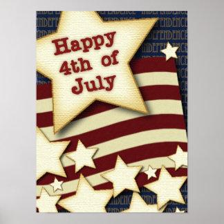 4 de julio feliz póster