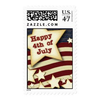 4 de julio feliz sellos postales