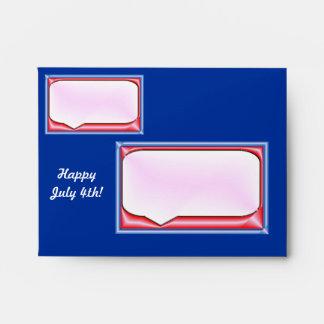 4 de julio feliz sobre