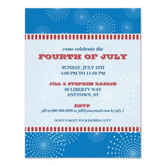 4 de julio fiesta de la explosión del fiesta invitaciones personalizada