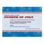 4 de julio fiesta de la explosión del fiesta tarjetas postales