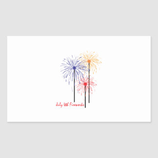 4 de julio fuegos artificiales rectangular altavoces